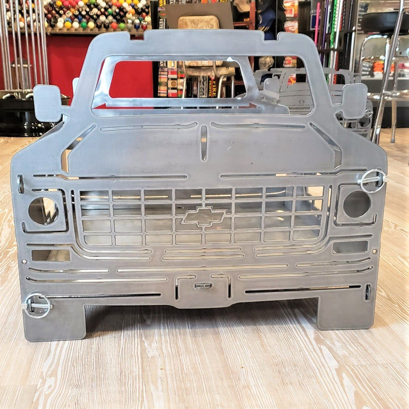 image of C10 Square Body Chevy Portable Collapsible Fire Pit Grill