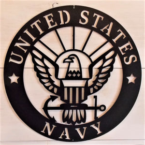 U.S. Navy Emblem Steel Sign