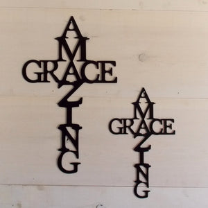Amazing Grace Cross Wall Art