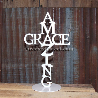 Amazing Grace Cross Stand