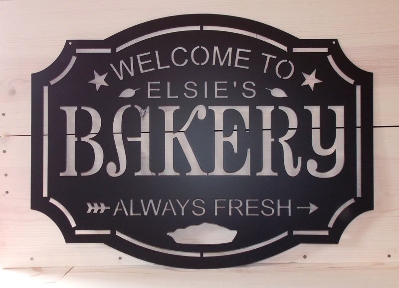 Personalized BAKERY metal sign