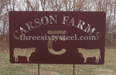 Custom Driveway - Entrance - Welcome Steel Signs