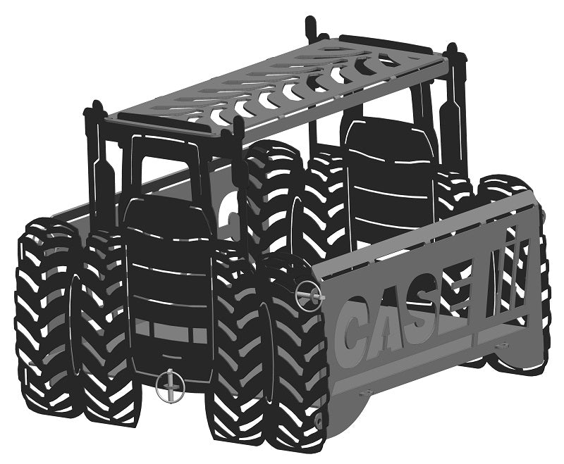 image of CASE IH 4WD Tractor Fire Pit Portable Collapsible FirePit Grill