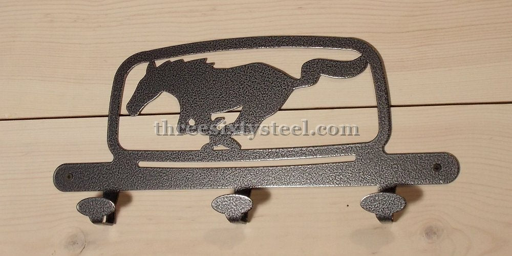 Ford Pony Corral Grill Emblem Steel Coat Hook
