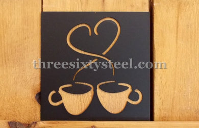 Coffee Cups Love Sign