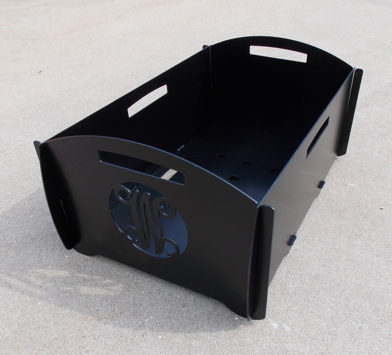 custom monogram collapsible steel firepit cargo carrier