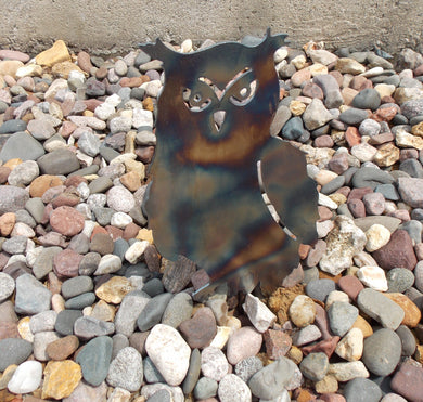 Owl Garden Decor Metal Stake