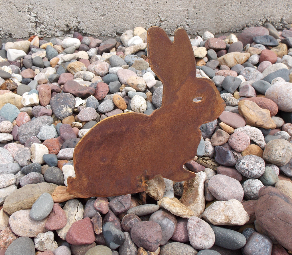 Bunny Rabbit Garden Decor Metal Stake