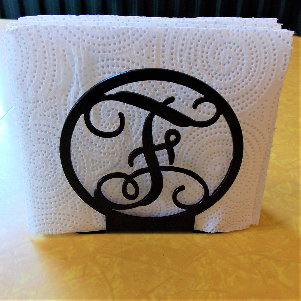 monogram napkin holders