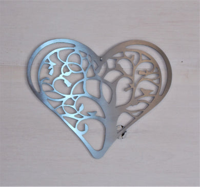 Tree of Life Heart Steel Art