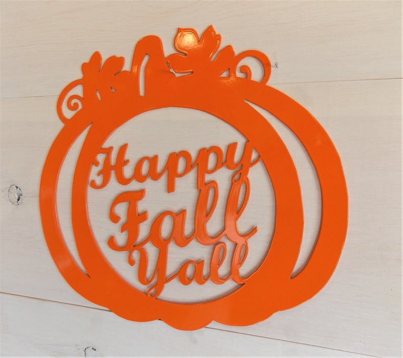 Happy Fall Yall Pumpkin Decoration