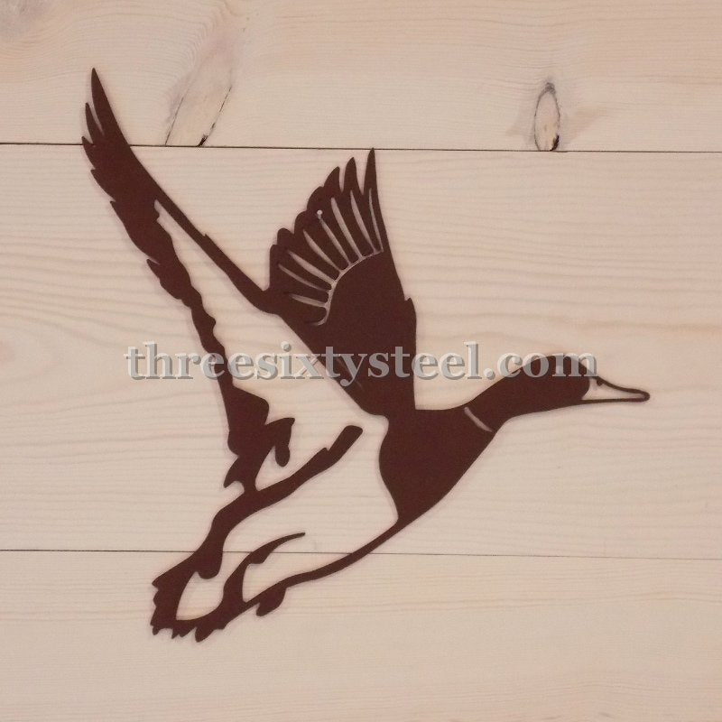 Duck in Flight Steel Wall Art