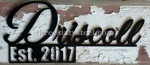 Custom Steel Name Signs / 360-STEEL Custom Products