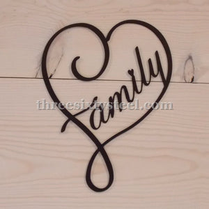 Family Heart Steel Art