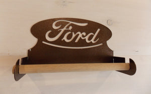 Ford Oval Steel Paper Towel Holder