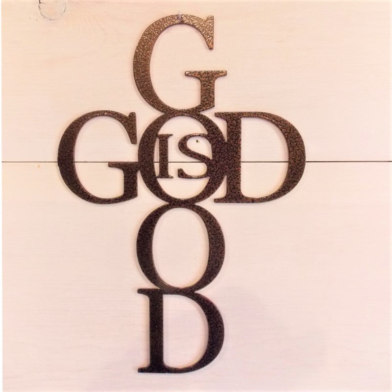 God is Good Cross Metal Wall Art