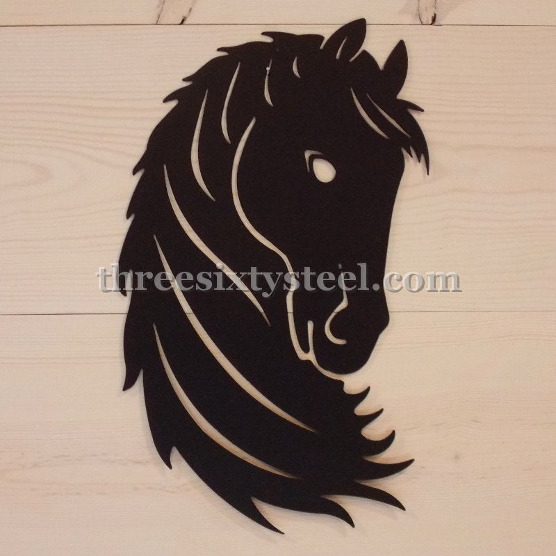 Horse Head Steel Decor