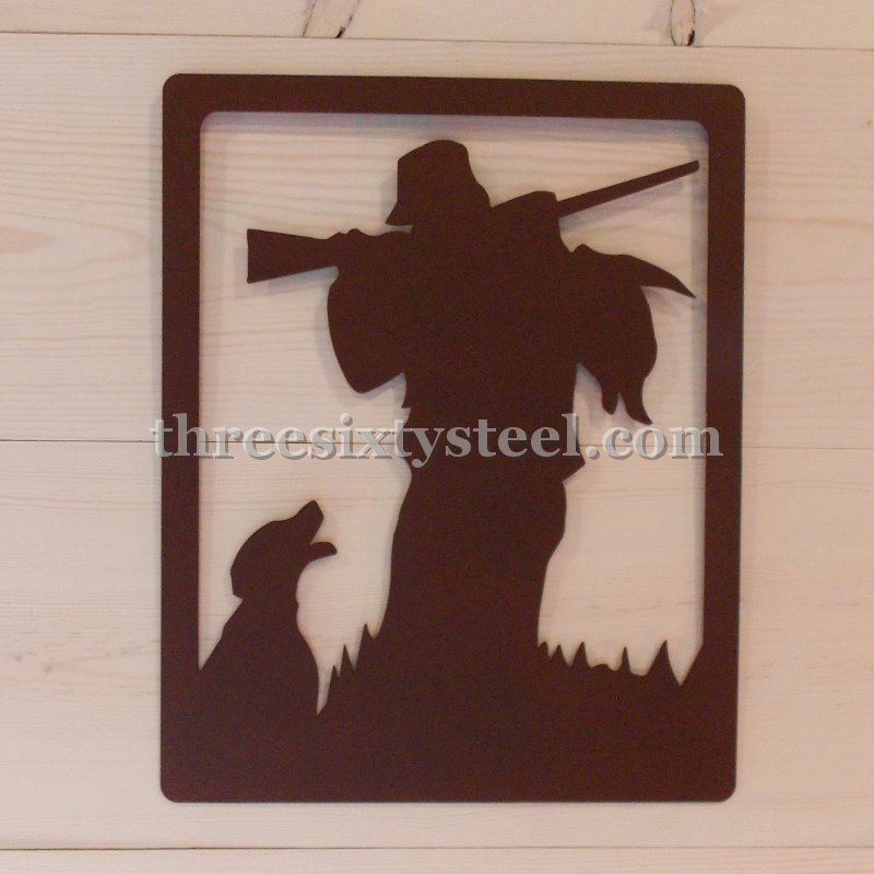 16X20 Duck Hunter Scene Steel Wall Decor