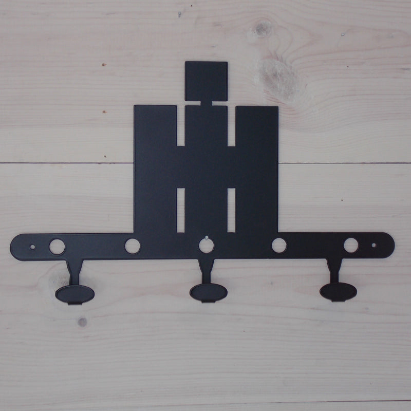 International Harvester IH Logo Steel Coat Hook Black