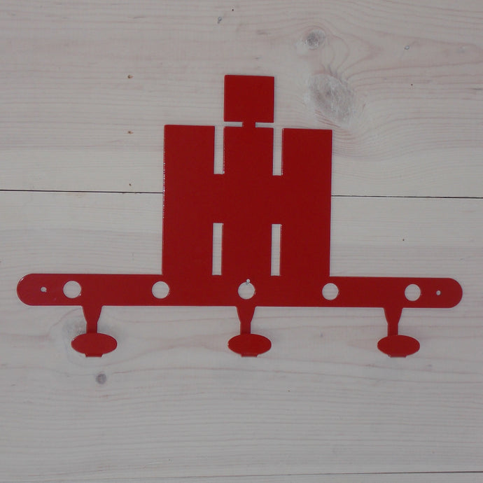 International Harvester IH Logo Steel Coat Hook Red