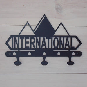 International Harvester Diamond Logo Steel Coat Hook Black