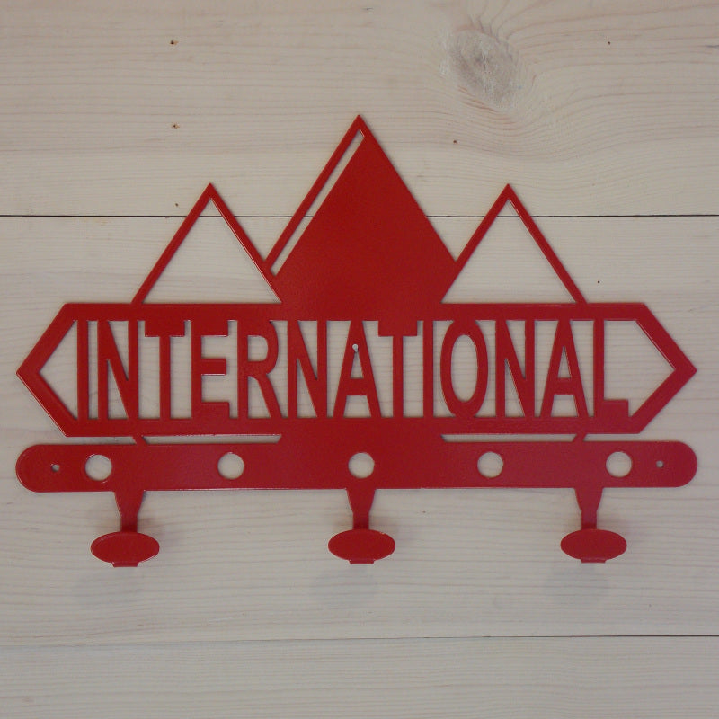 International Harvester Diamond Logo Steel Coat Hook Red