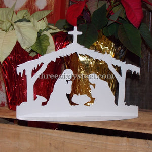 Steel Nativity Scene Decor