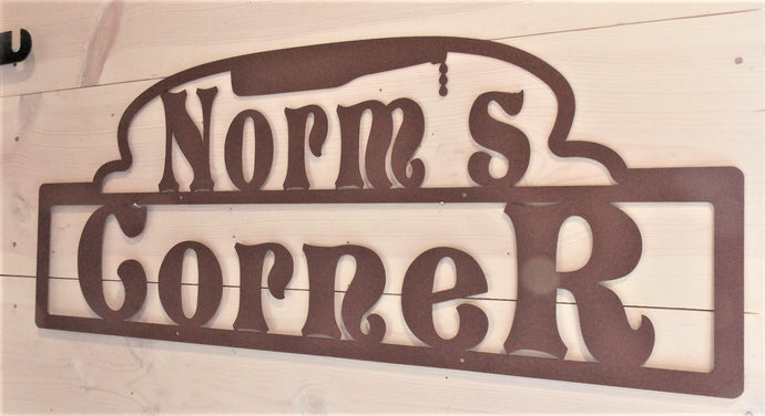 Norms Corner Personalized Bar Sign
