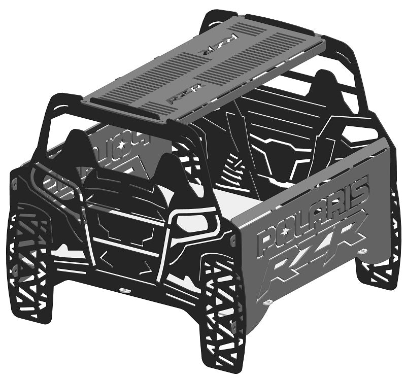 image of Polaris RZR Fire Pit Portable Collapsible FirePit Grill
