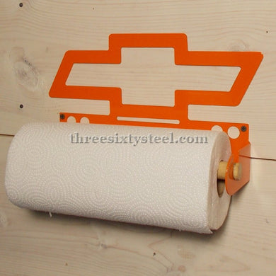 Chevy Bow Tie Steel Paper Towel Holder