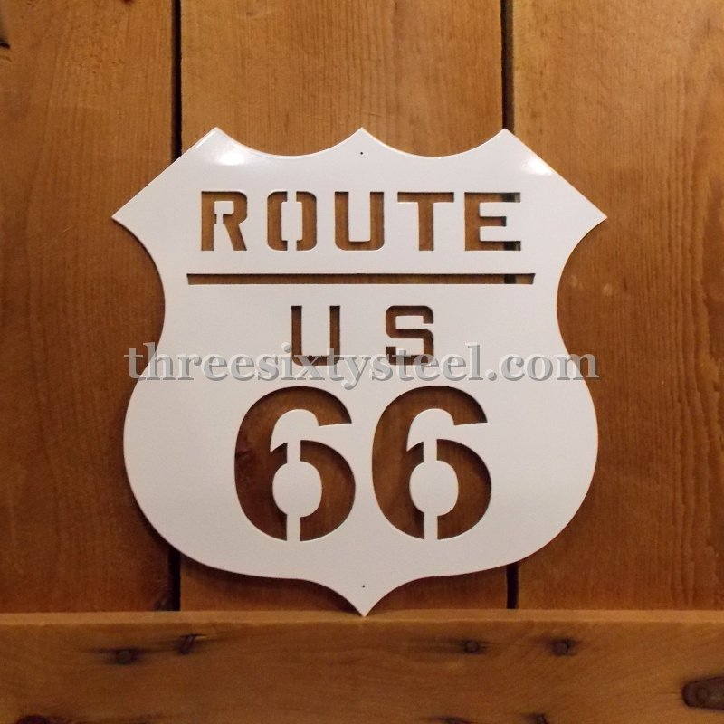 Route 66 Steel Sign