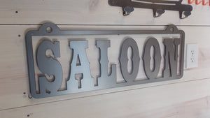 Saloon Steel Bar Sign