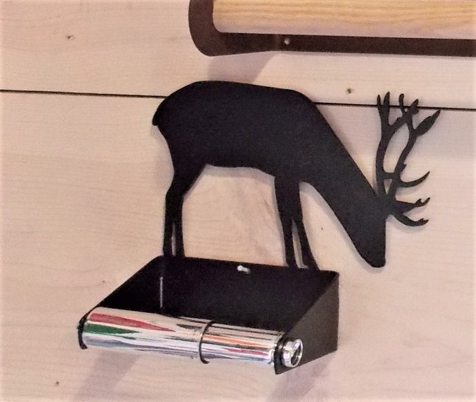 Buck Deer Toilet Paper Holder by 360-STEEL