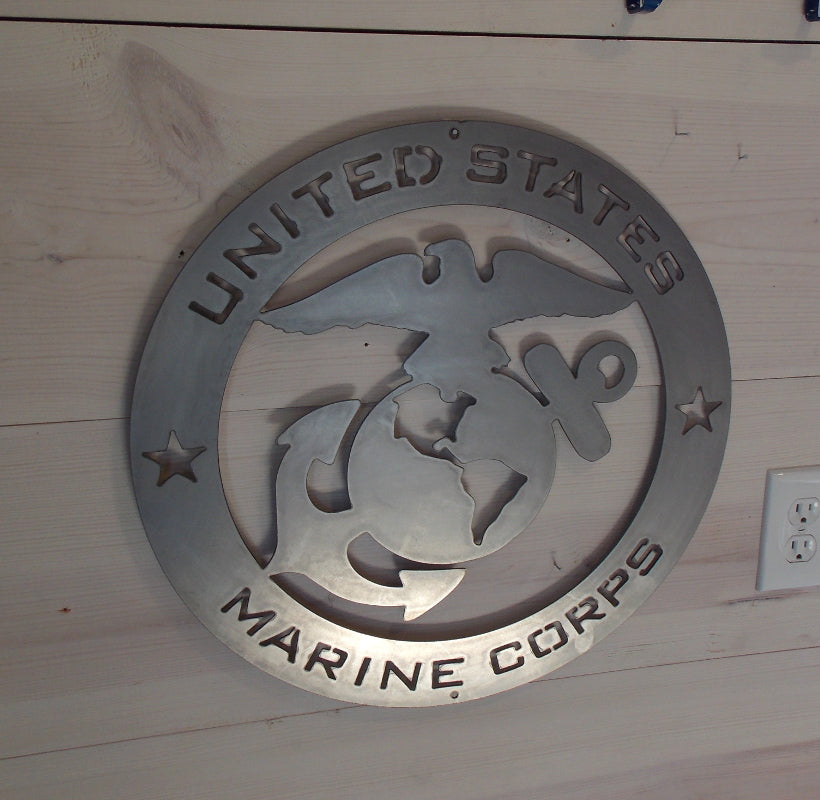Marine Corps Round Steel sign