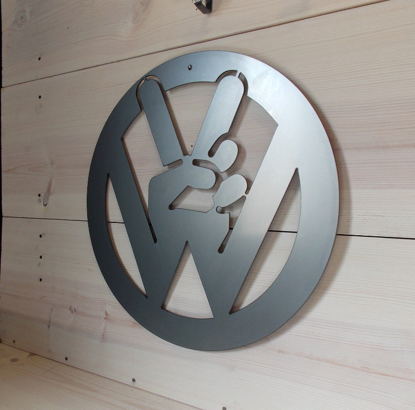 VW Peace Sign Wall Art