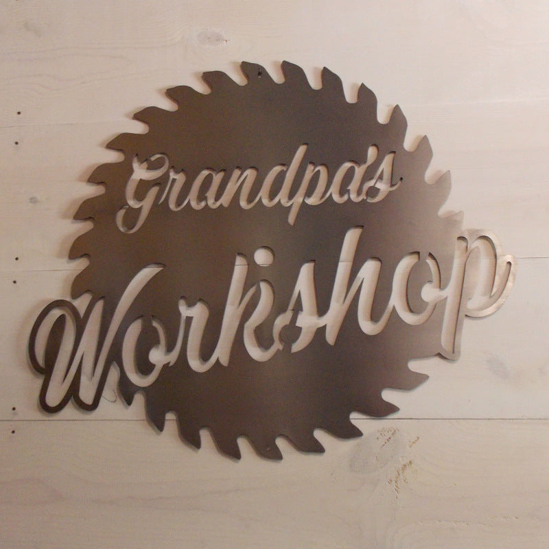 Custom Workshop Saw Blade Sign