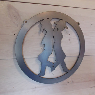 Cowboy Cowgirl Metal Decor
