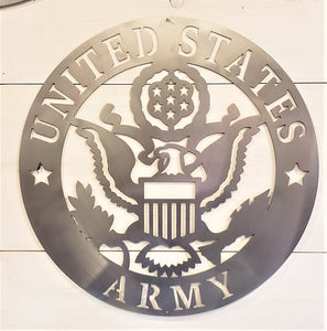 U.S. Army Emblem Steel Sign