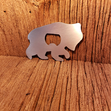 image of bear cub steel bottle opener