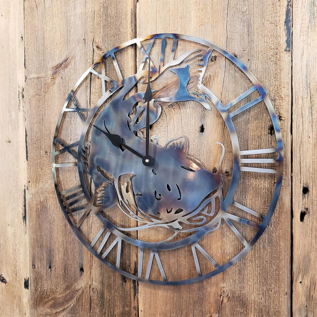 image of Catfish Roman Numeral Custom Clock