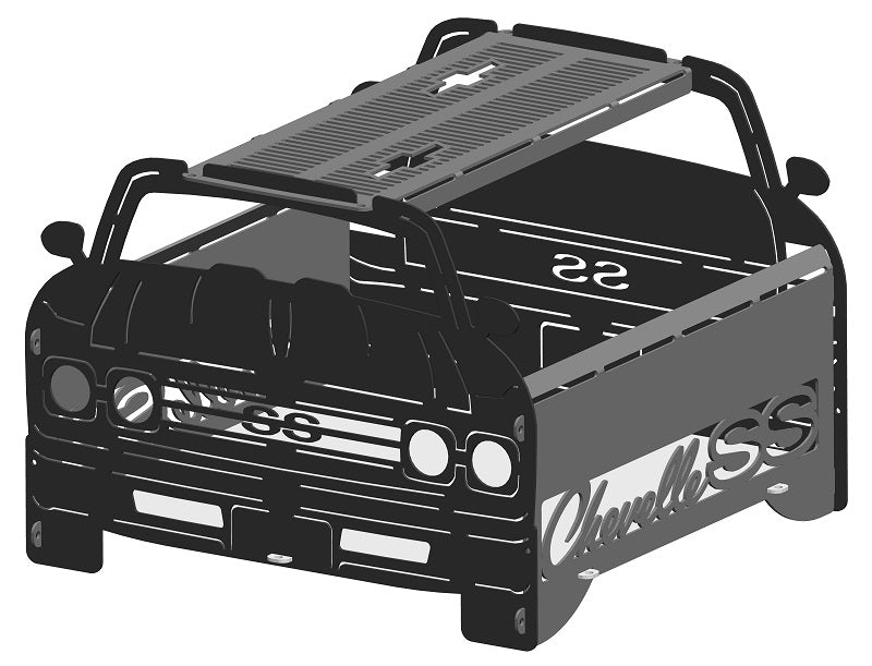 image of 1969 Chevelle Fire Pit Portable Collapsible FirePit Grill