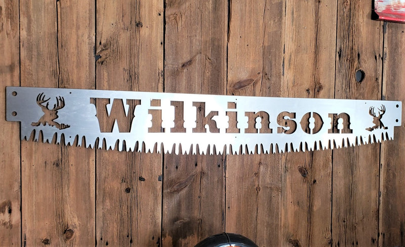 Crosscut Saw Blade Custom Name Sign