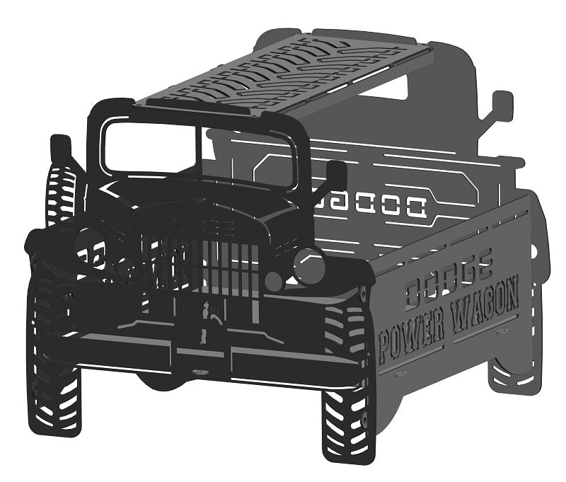 image of Dodge Power Wagon Fire Pit Portable Collapsible FirePit Grill