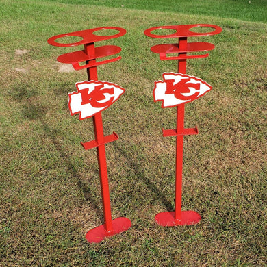 Customizable Yard Game Drink Holder Stakes