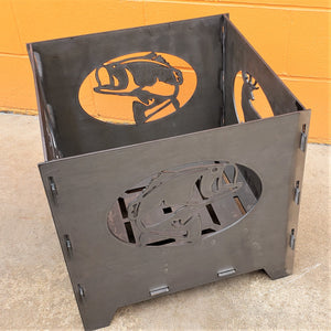 360-STEEL Heavy Duty Portable Square Camp Fire Pit