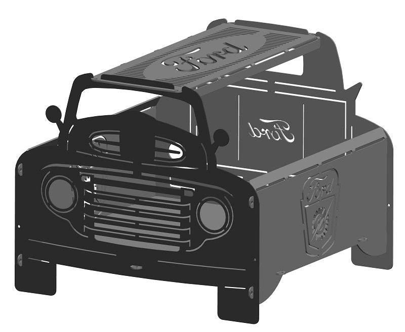 image of 1948 Ford F1 Truck Fire Pit Portable Collapsible FirePit Grill