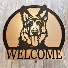 image of German Shepherd Bust Welcome Sign
