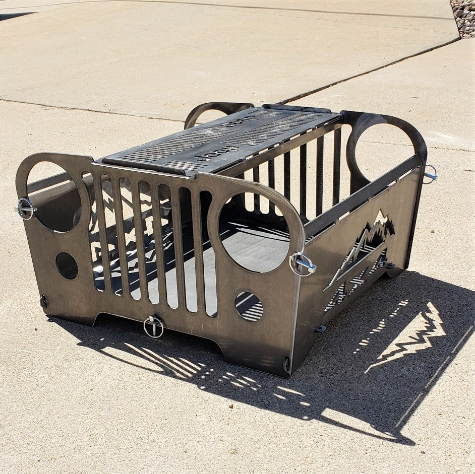 image of Jeep CJ Style Portable Collapsible Fire Pit Grill