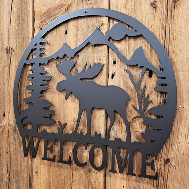 image of Moose Mountain Scene Welcome Sign