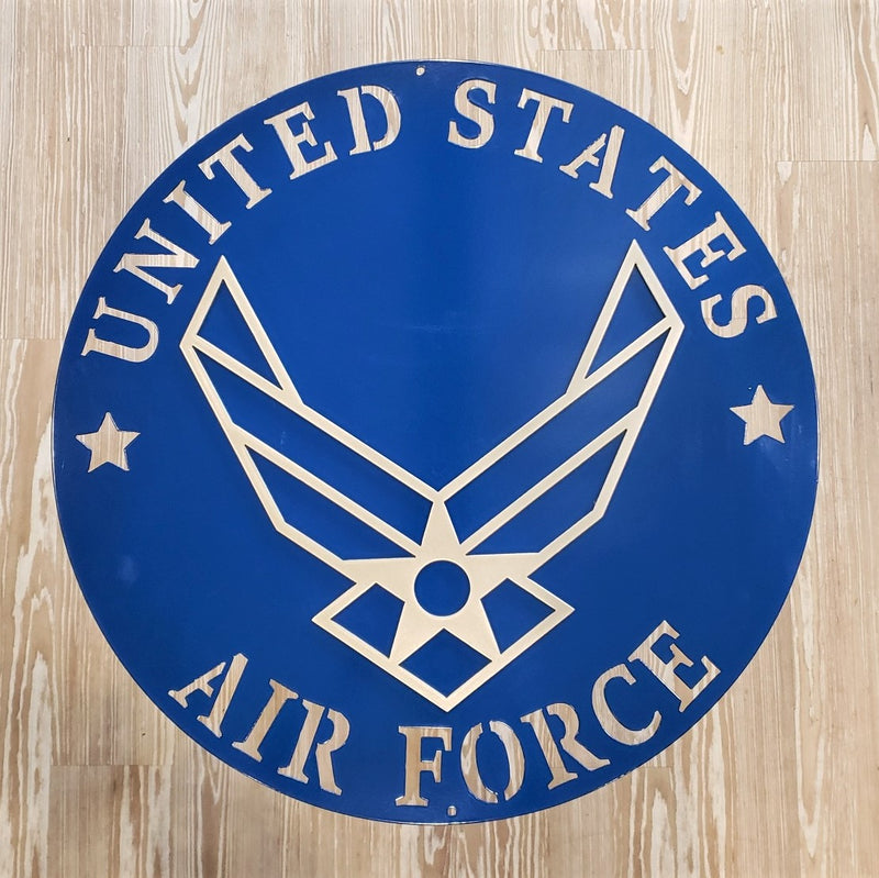 "image of U.S. Air Force Wings Emblem 2 Color 20"" Steel Sign"
